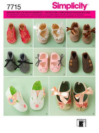 Schnittmuster: Baby Schuhe - A (A-P-M-G) - Babies - Simplicity ...