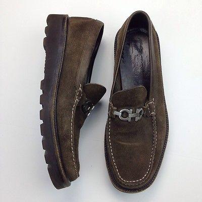 28cf5eef920 Men s Salvatore Ferragamo Brown Italian Suede Loafers Size 11 D ...