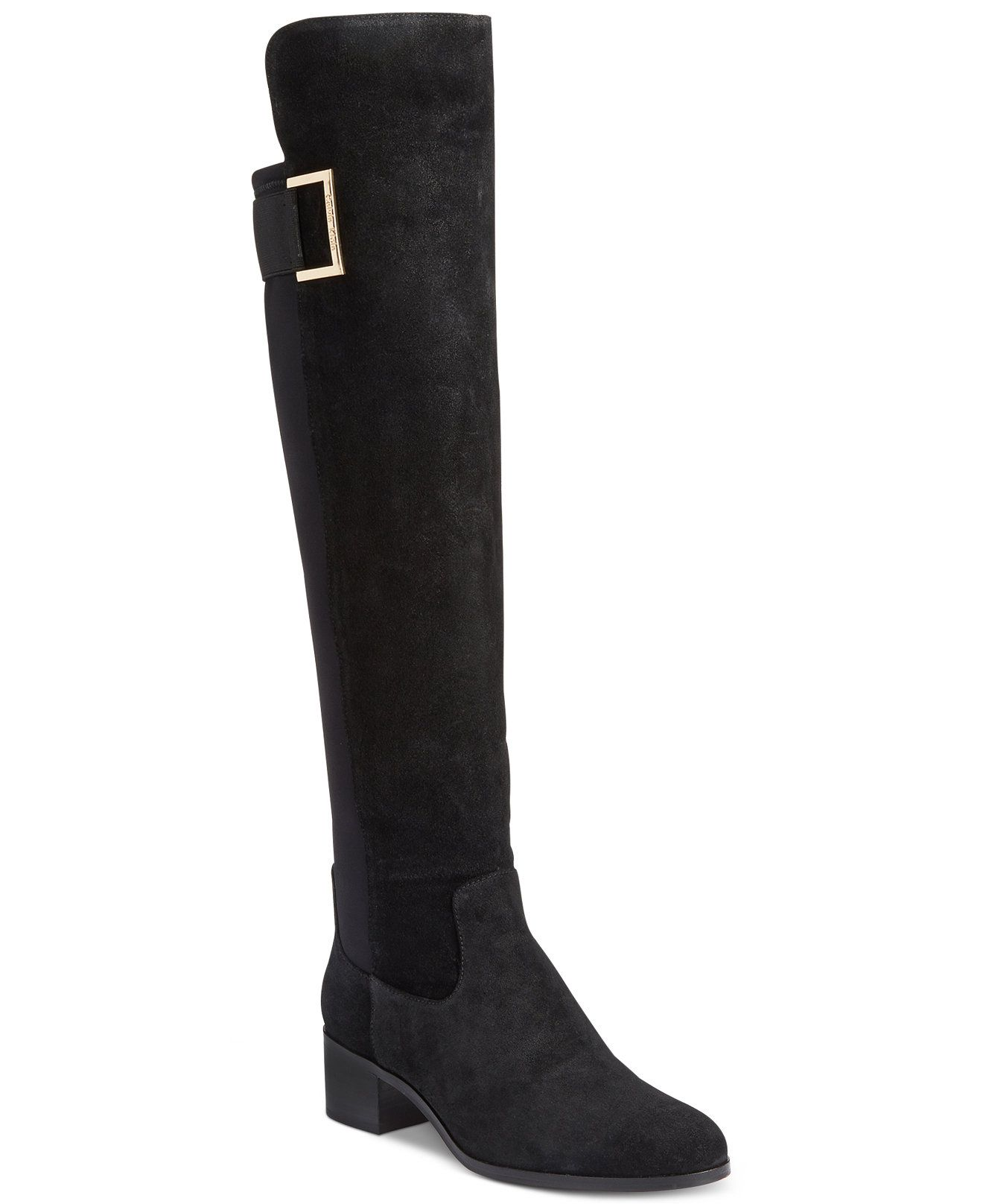 Calvin Klein Cylan Wide Calf Over-The-Knee Boots - Boots - Shoes ...