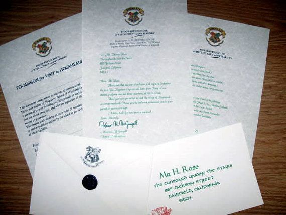 Harry Potter 3rd Year Hogwarts Letter & Hogsmeade Permission Slip ...