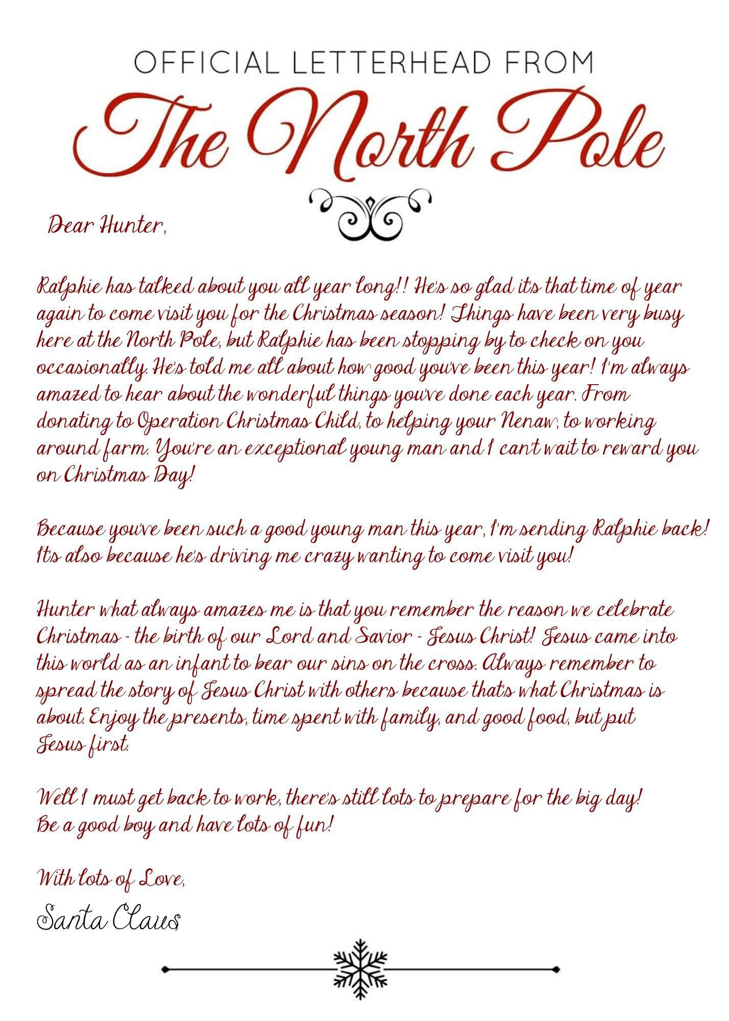 Elf on the Shelf Arrival Letter Jesus Version 2017 Free