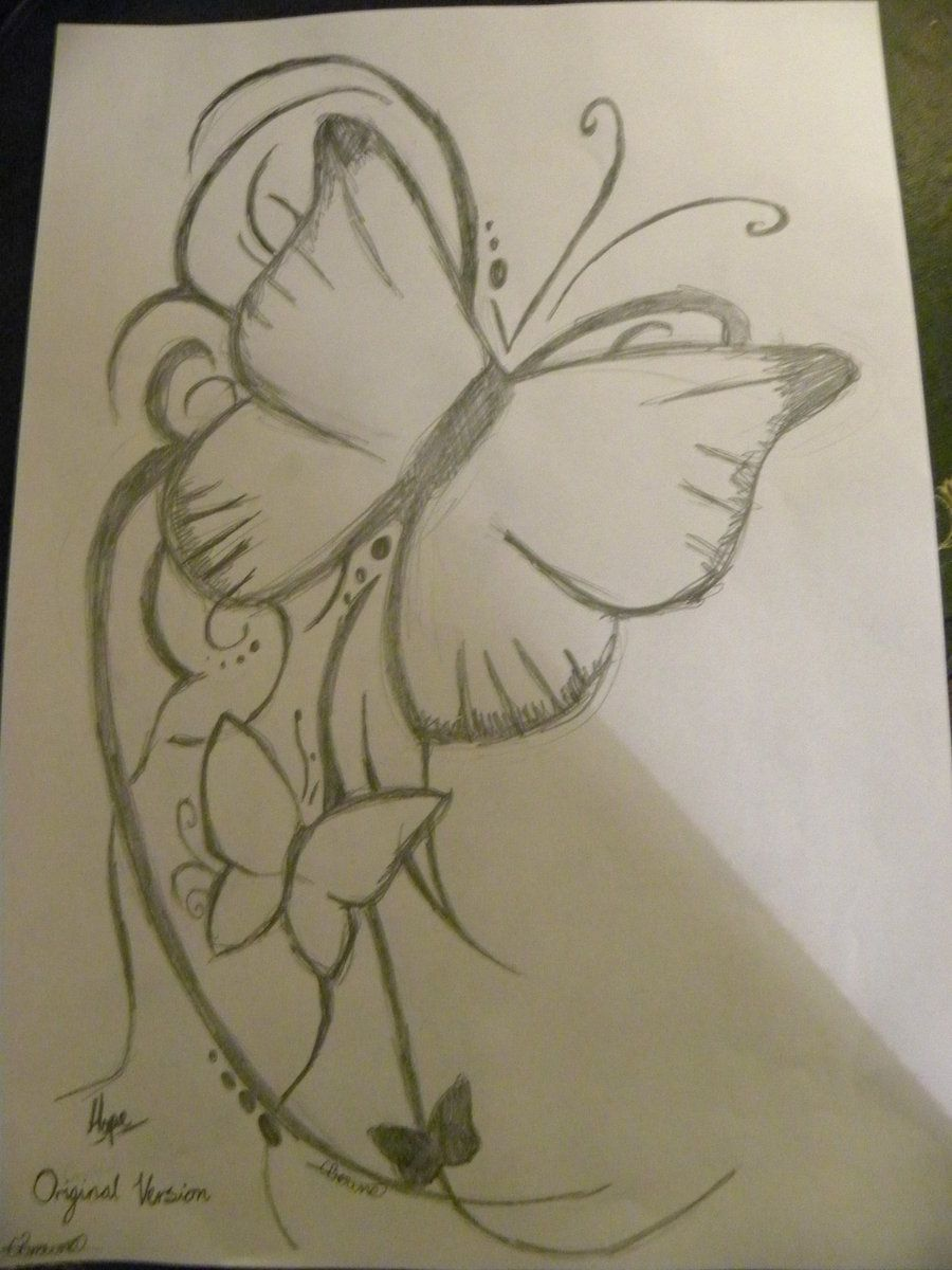 Tattoo Pencil Drawings Tumblr Butterfly tattoo pencil by ...
