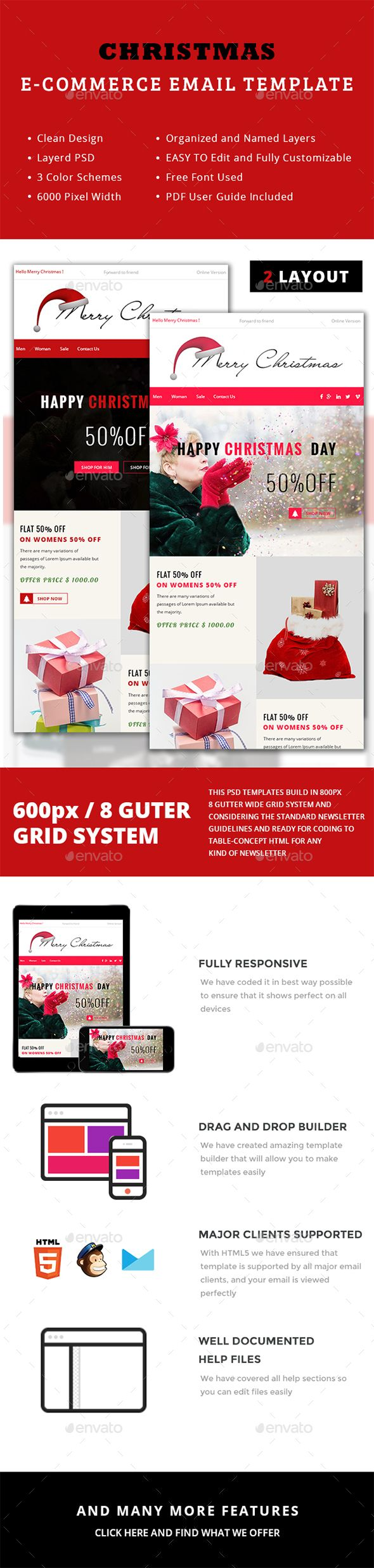 Chryst Christmas ECommerce Newsletter  Newsletter Templates