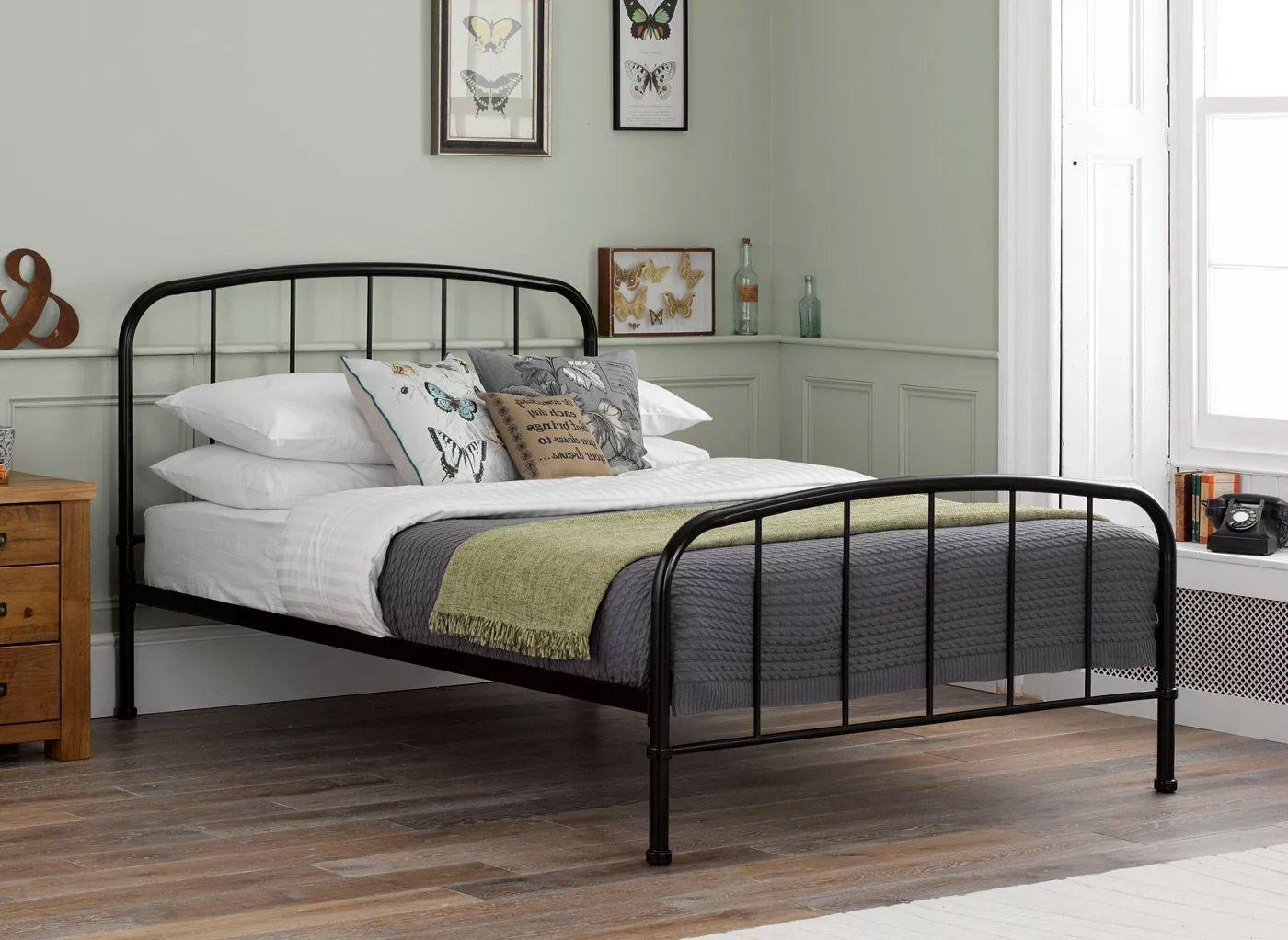 Westbrook Metal Bed Frame Black Bed Frame Iron Bed Frame White Metal Bed