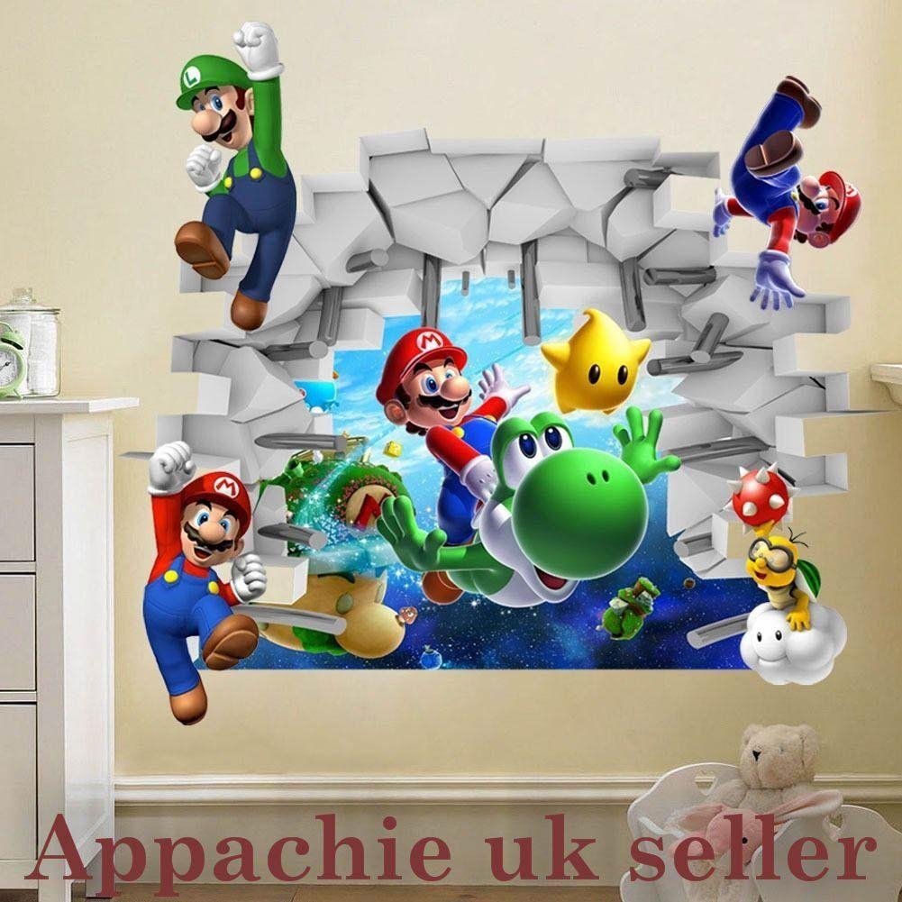 Super Mario Luigi und Freunde als Wandtattoo | Kinderzimmer ...