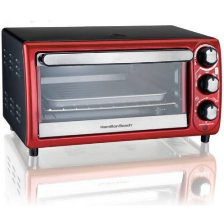 Hamilton Beach 4 Slice Toaster Oven Red on the image for #0: 870d249b a c65f79cb4ec