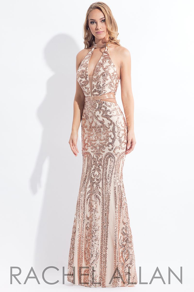 1746c040186 Style 6179 in Nude Rose Gold Prom Dress Shopping