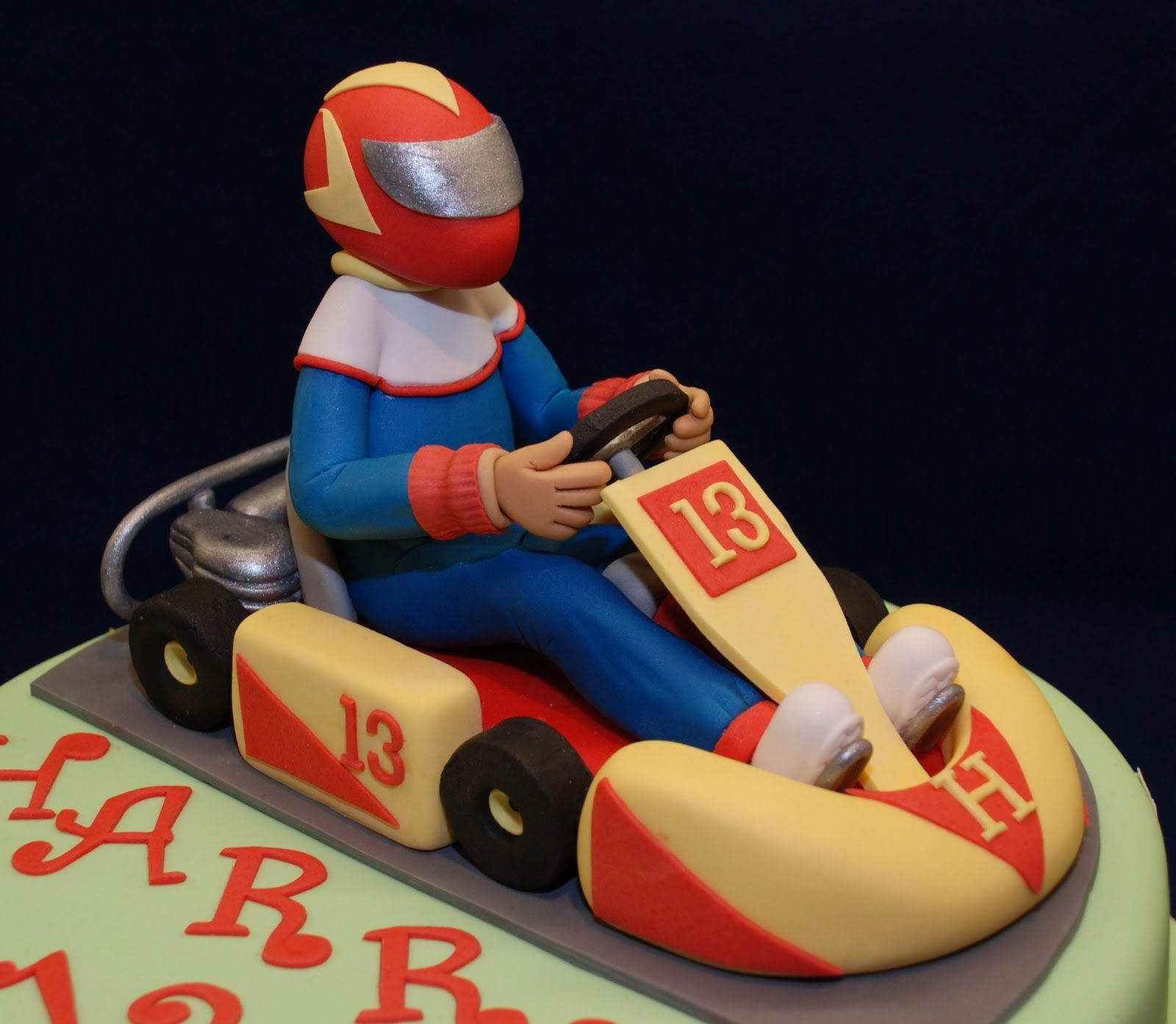 Go Kart Cake With Images Go Kart Sports Birthday Cakes Go