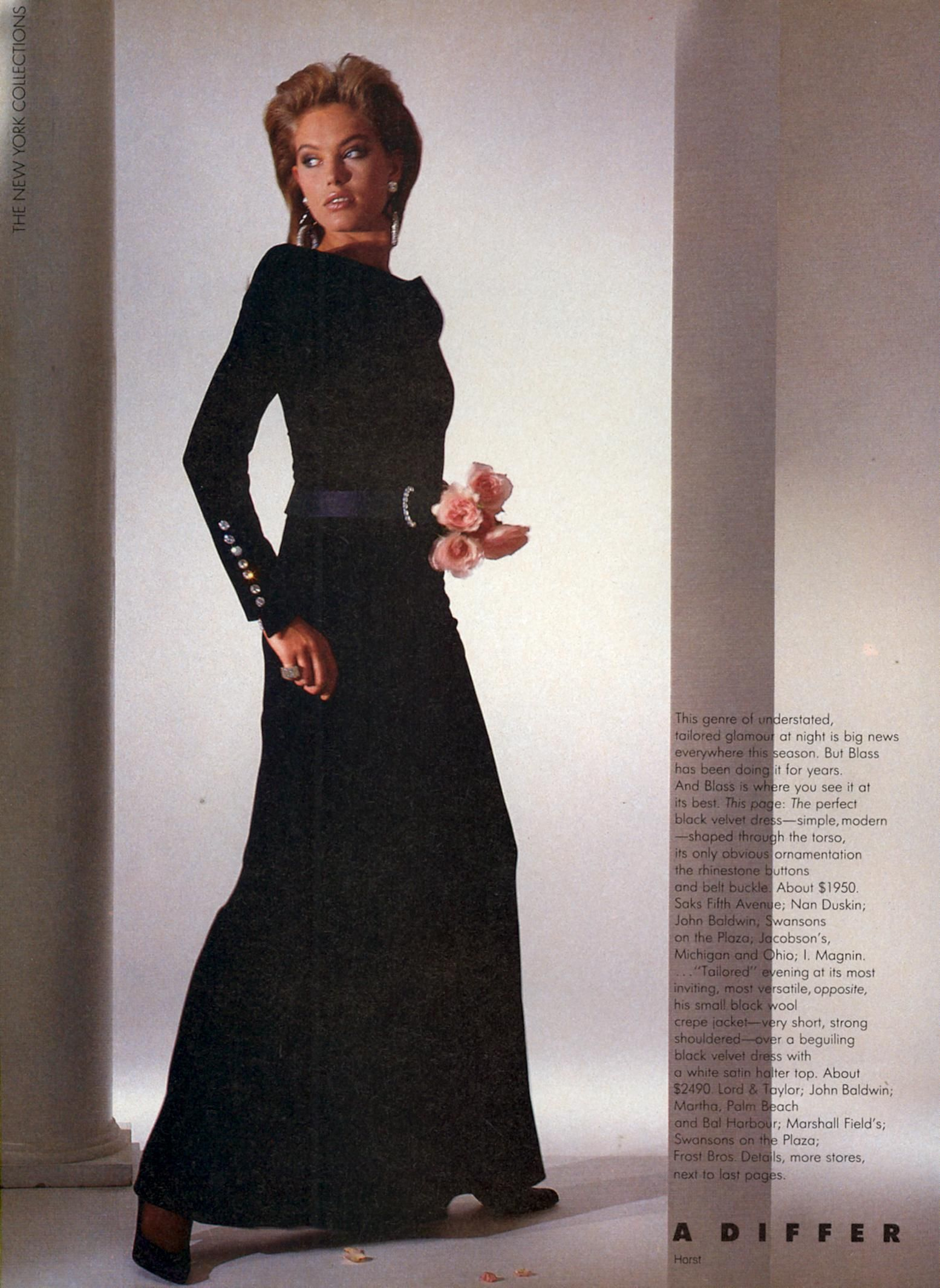A Different Kind of Glamour...at Bill Blass Photo Horst P. Horst US VOGUE September 1985