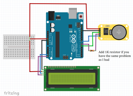 How To Simply Use Ds1302 Rtc Module With Arduino Board And Lcd Screen Surtr Technology In 2020 Arduino Arduino Board Arduino Rtc