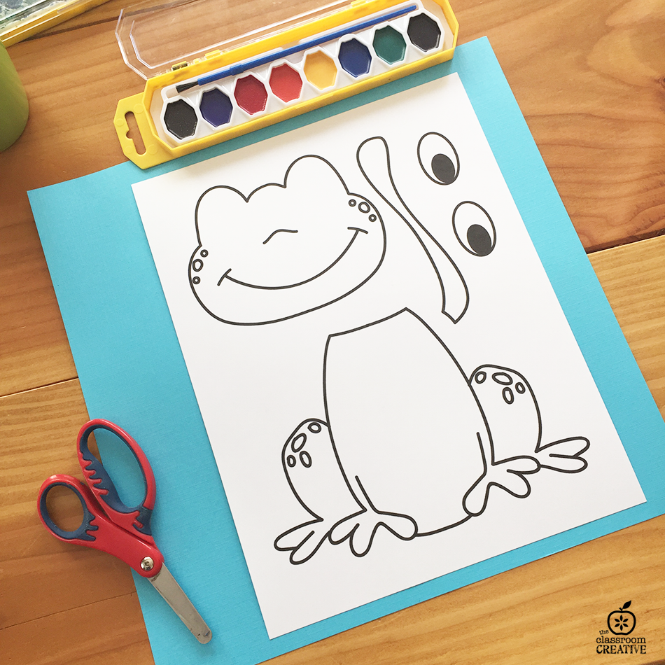 Free Printable Frog Template Craft Activity Frog Crafts Kindergarten Crafts Craft Activities For Kids