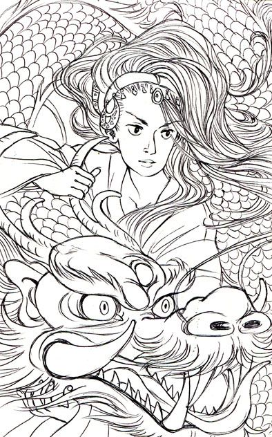Jen Wang :D | Art, Drawings, Adult coloring pages