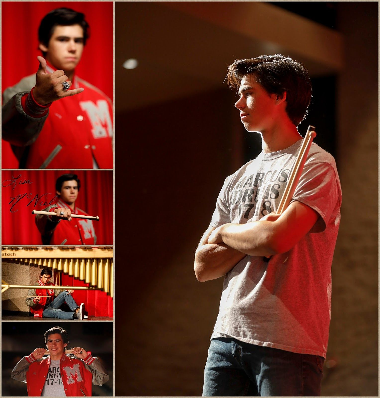 Senior Pictures of a Drummer by Flower Mound