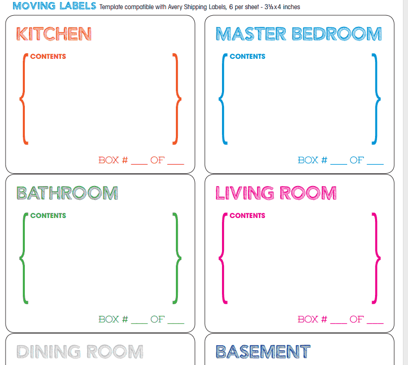 Moving Guide Checklists To Organize