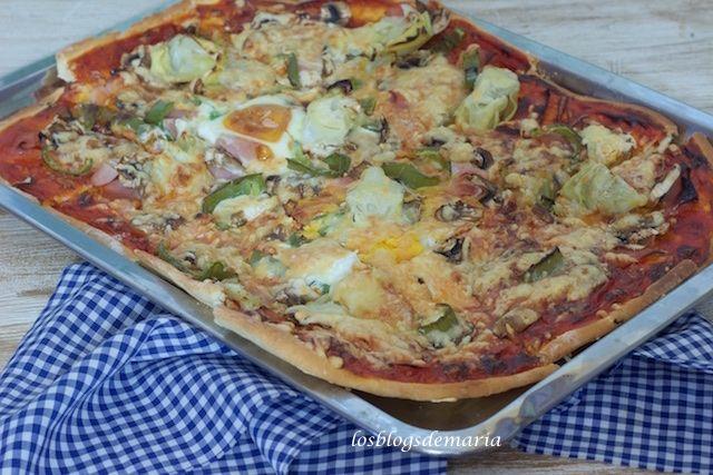 Pizza De Verduras Y Huevos Verduras Recetas De Comida Pizza