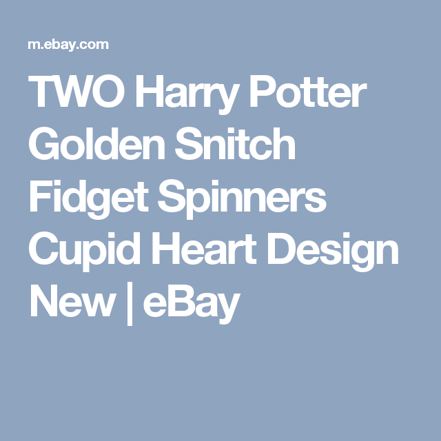 TWO Harry Potter Golden Snitch Fid Spinners Cupid Heart Design