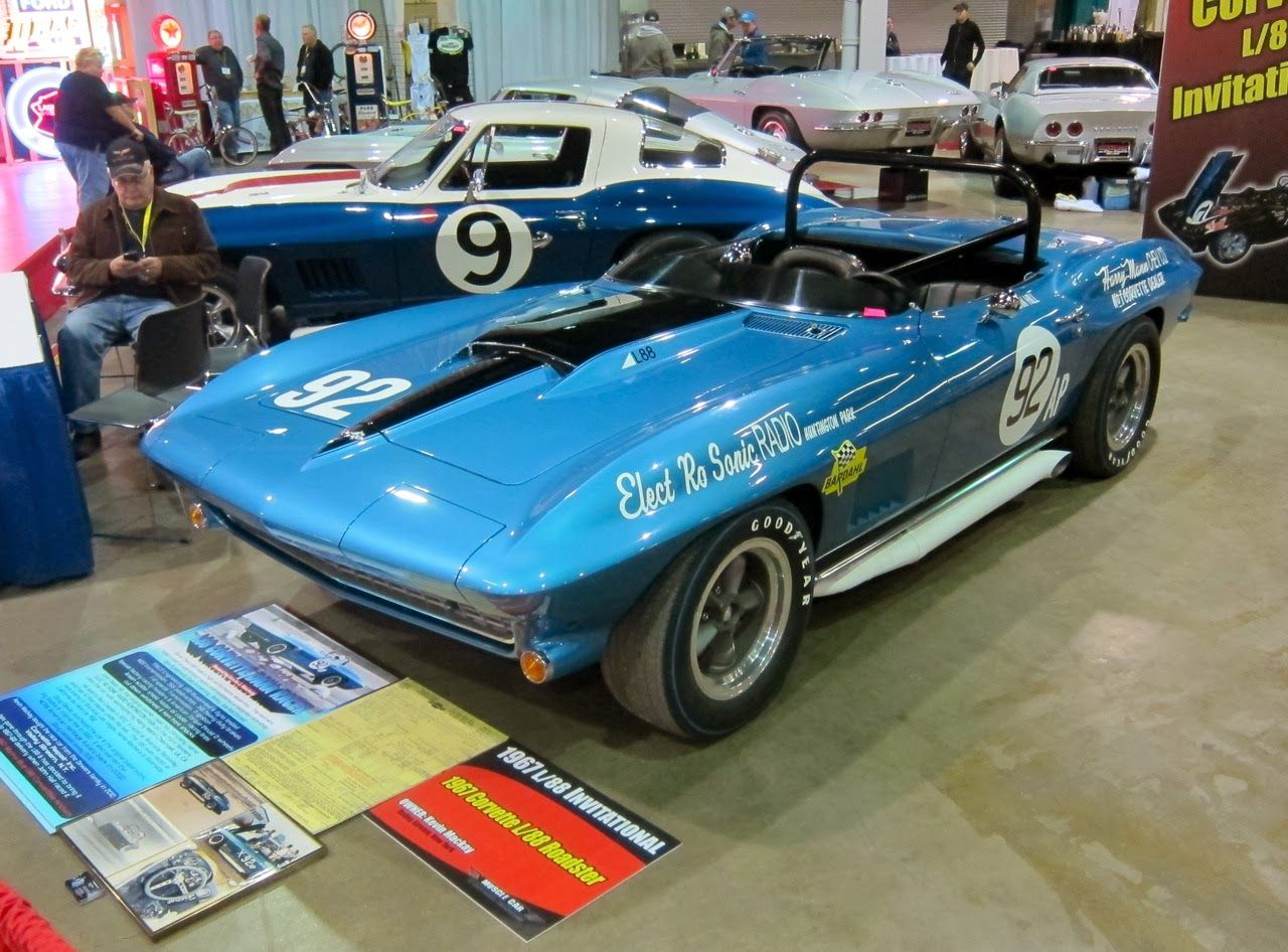 The L88 engine, above, in Kevin Mackay's #92, was developed for sports car racing during Zora Arkus-Duntov's glory days at Chevrolet and, while rated at 430 horsepower, it actually made an additional 100-plus horsepower once tuned and fitted with free-flow exhausts