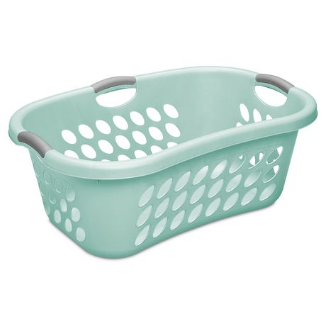 Sterilite Hip Hold Aqua Laundry Basket Aqua Laundry Basket