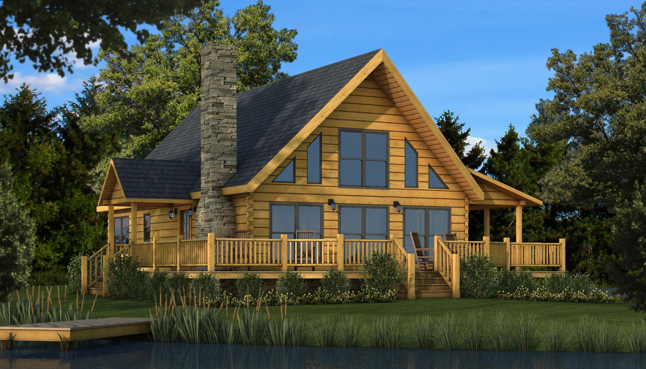 "The Rockbridge Log Cabin Kit Plans & Information"" is one of the"