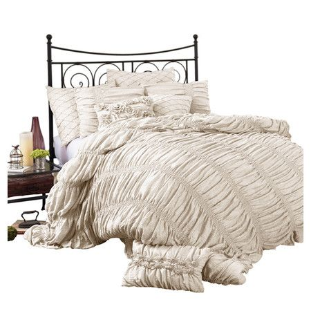 Drape The Lush Decor Lucia 4 Piece Comforter Set Over Your Bed And Add A Blush
