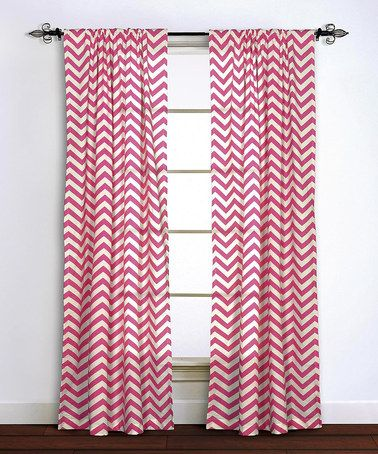 Look At This Zulilyfind Pink Zigzag Curtain Panel Zulilyfinds Chevron Curtains Panel Curtains Curtains