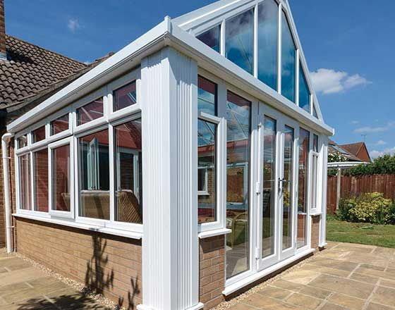 Gleaming White Loggia Conservatory With Floor To Ceiling Windows   Giving Your  House A Good Ideas