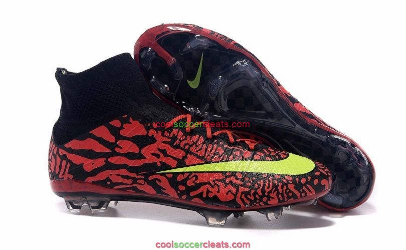 Order Nike Mercurial Superfly FG ID Soccer Cleats Red Black Green Zapatos  De Fútbol 8af65e1ecb5a7