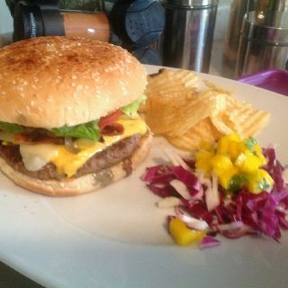 My version of Ultimate Burger with a side salad perfect for the summer!