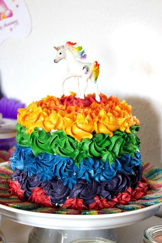 Ideen Für Eine Tolle Einhornparty Regenbogen Party Pinterest