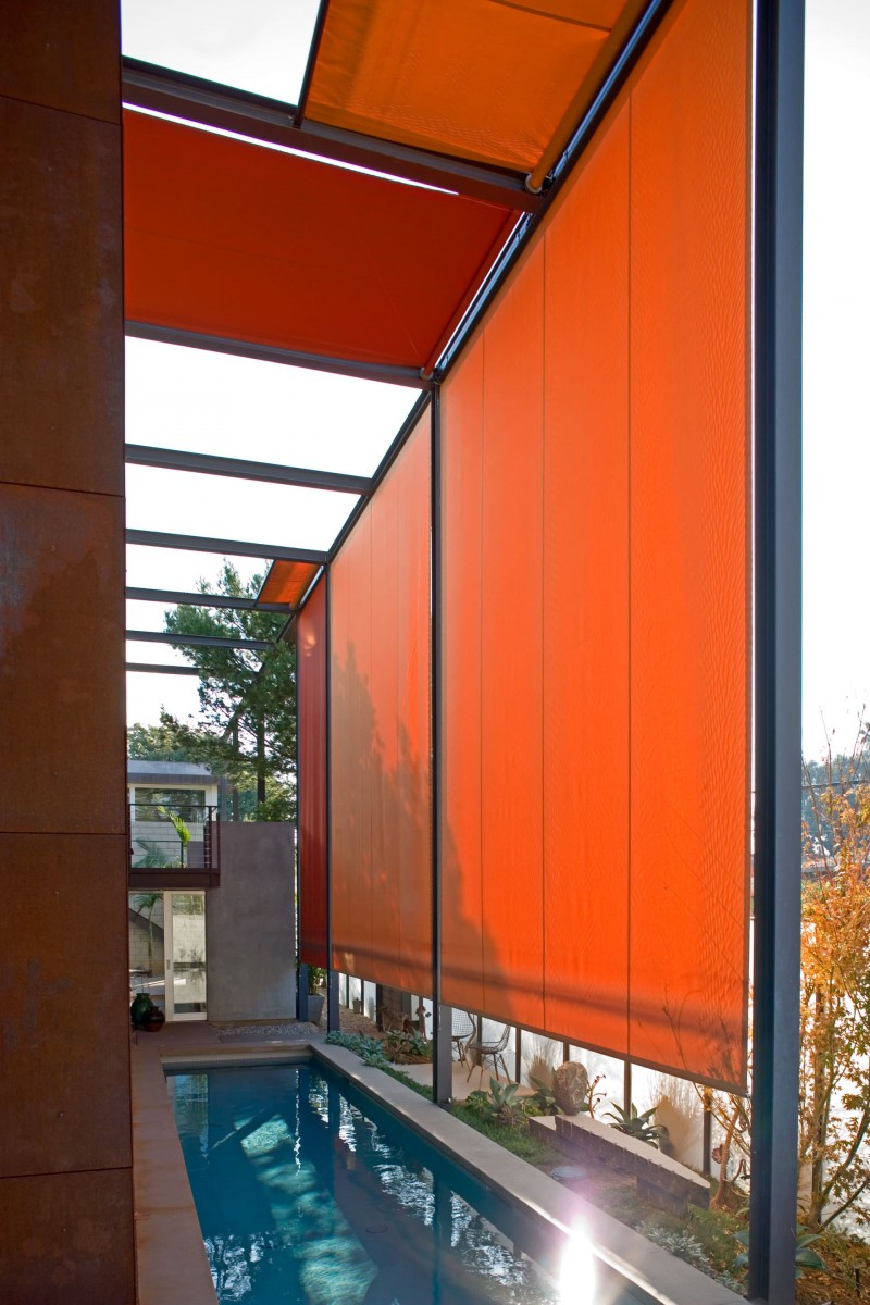 700 Palms Residence Indoor Outdoor Modern Design Eyrc Architects Eyrc Architects In 2020 Backyard Shade Pergola Shade Backyard Pergola