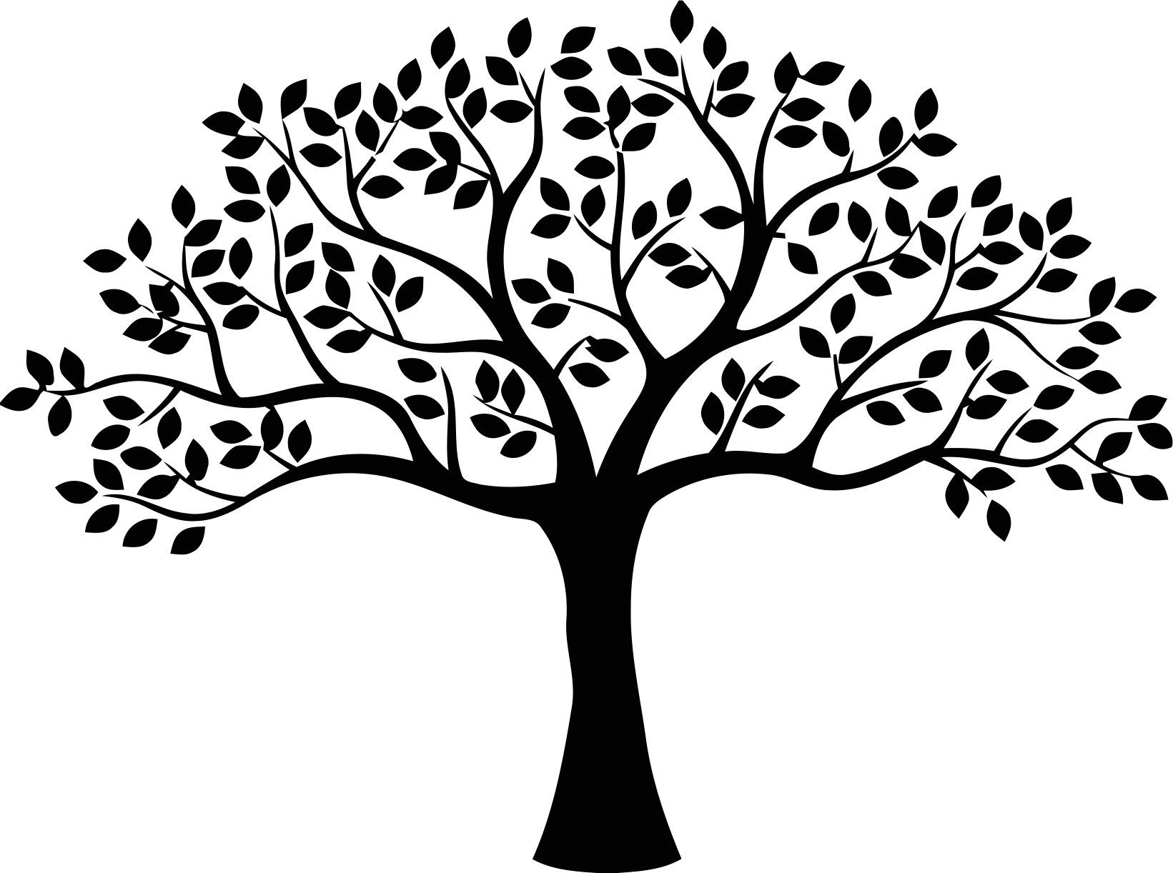 Decor Tree Free Vector cdr Download Stencil de árvore