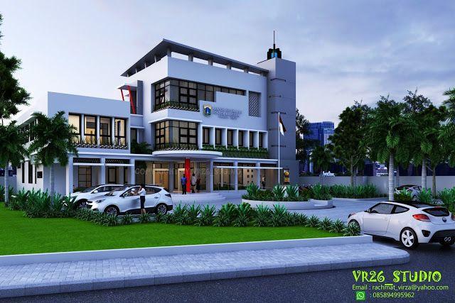 Contoh Gambar Shunda Plafon  124 ide desain kantor lurah kekinian model rumah