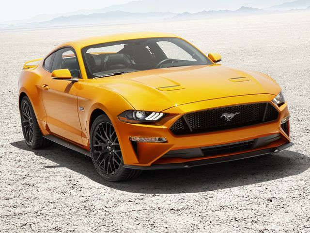 2018 Ford Mustang s a longer nose new look