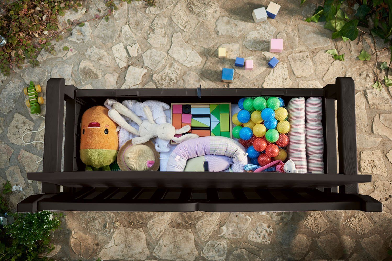 Outdoor Patio Storage Garden Bench Deck Box Amazon Prime By Keter