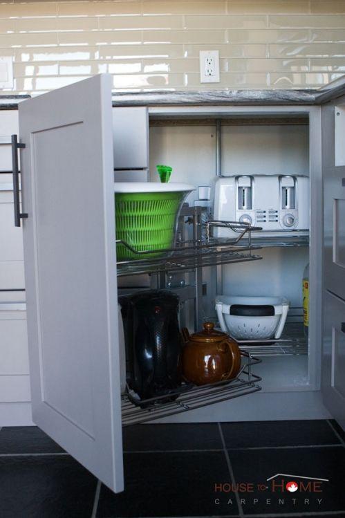 Elegant Kitchen Lazy Susan Corner Cabinet