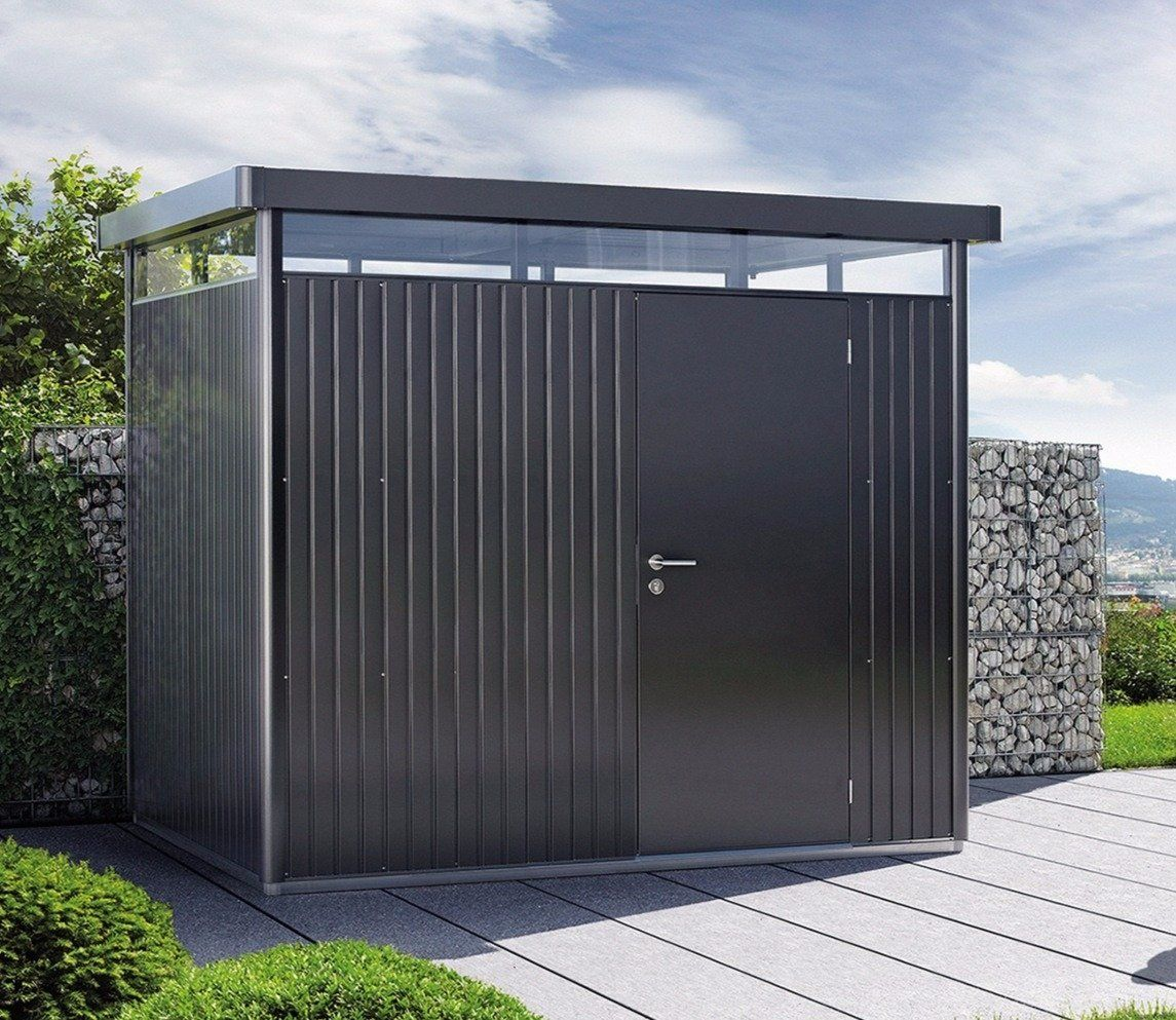 Biohort Highline H3 Metal Shed 9 X 8 Ft With Single Door Metal Shed Single Doors Shed