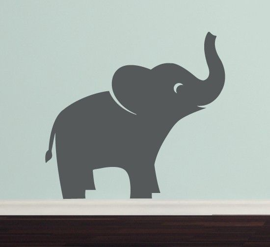 Elephant Vinyl Wall Decal Jungle Safari Children Boy