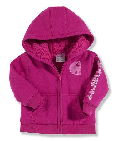 a8579342e Love this Pink Sherpa Lined Zip-Up Hoodie - Infant   Toddler on ...