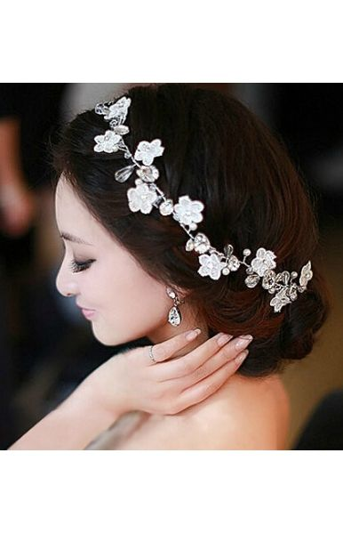 Eye Catching Elegant Bescheiden Mit Blumen Hochzeit Kopfschmuck