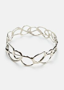 Silver Lace Bangle