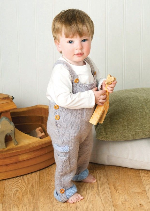 Baby Boy Dungarees Knitting Pattern : Dungarees in Deramores Baby DK (1012) Digital Version Baby knits Pinteres...