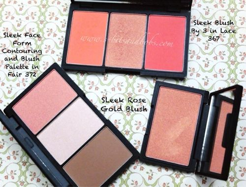 Comparison post: Sleek Face Form (Fair), Blush By 3 Lace and Rose ...