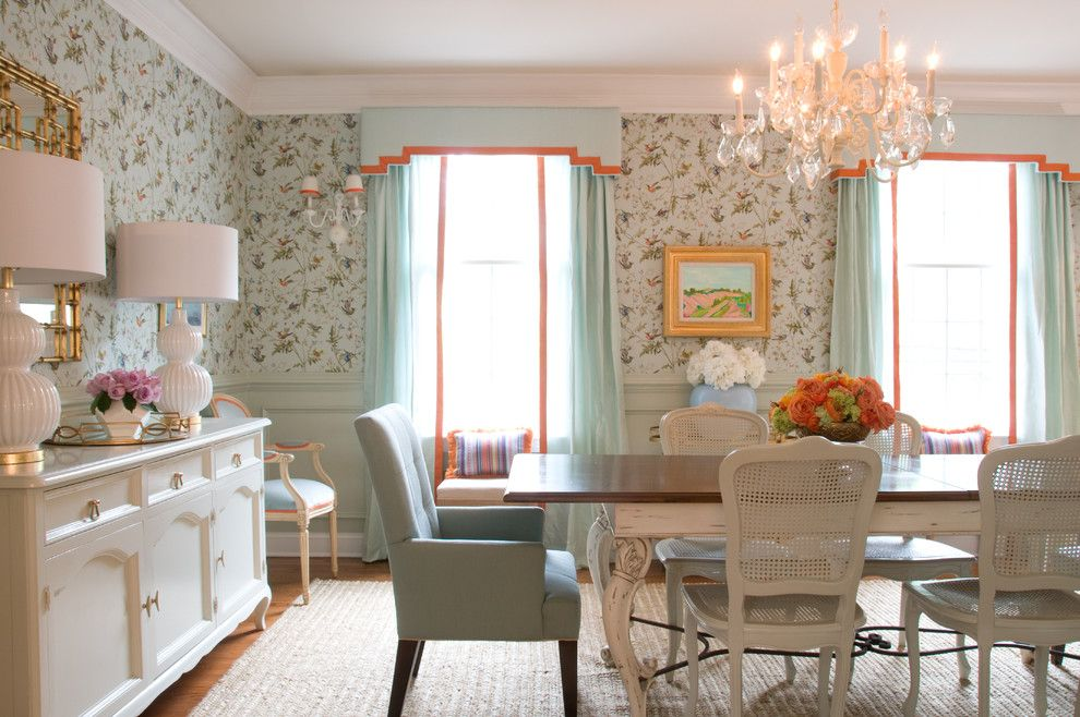 Cane Dining Chairs Dining Room Traditional With Hummingbirds Wallpaper Cole And Son Wallpaper