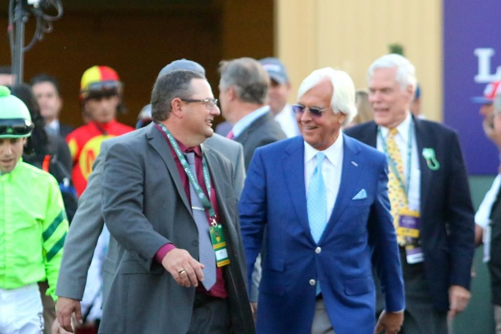 Alan Sherman and Bob Baffert talking before the 2016 Breeder's Cup Classic