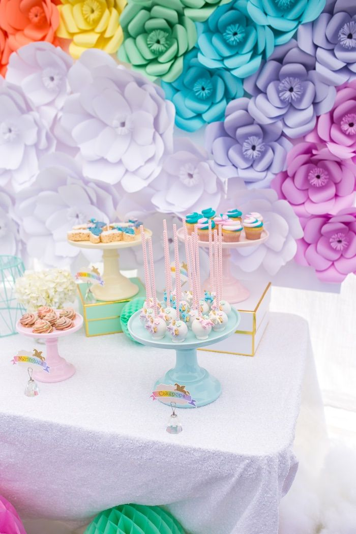 Sweetscape from a Magical Unicorn Birthday Party on Kara's Party Ideas   KarasPartyIdeas.com (27)