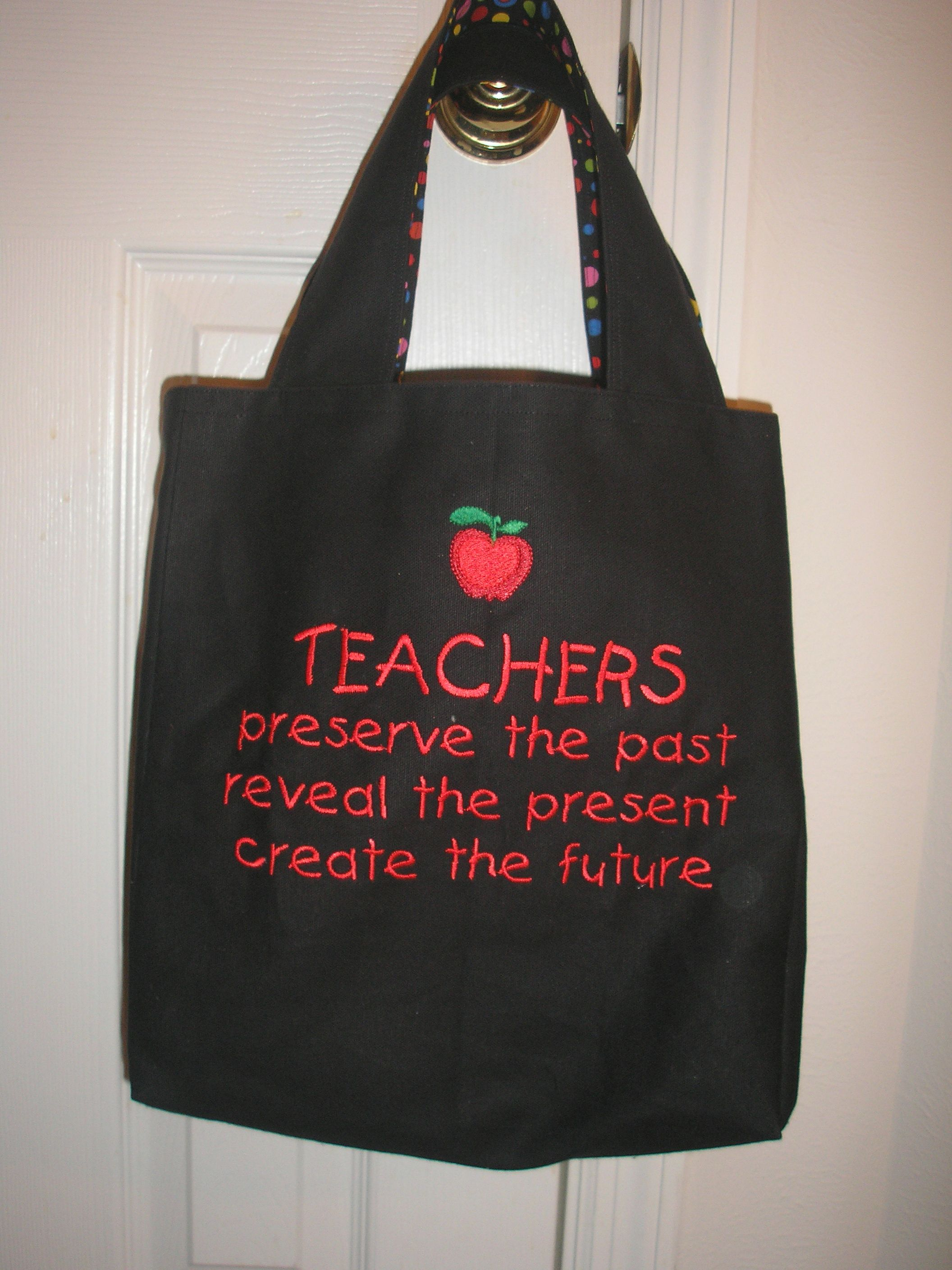 Embroidered Teacher S Tote Bag For My Grand Angel