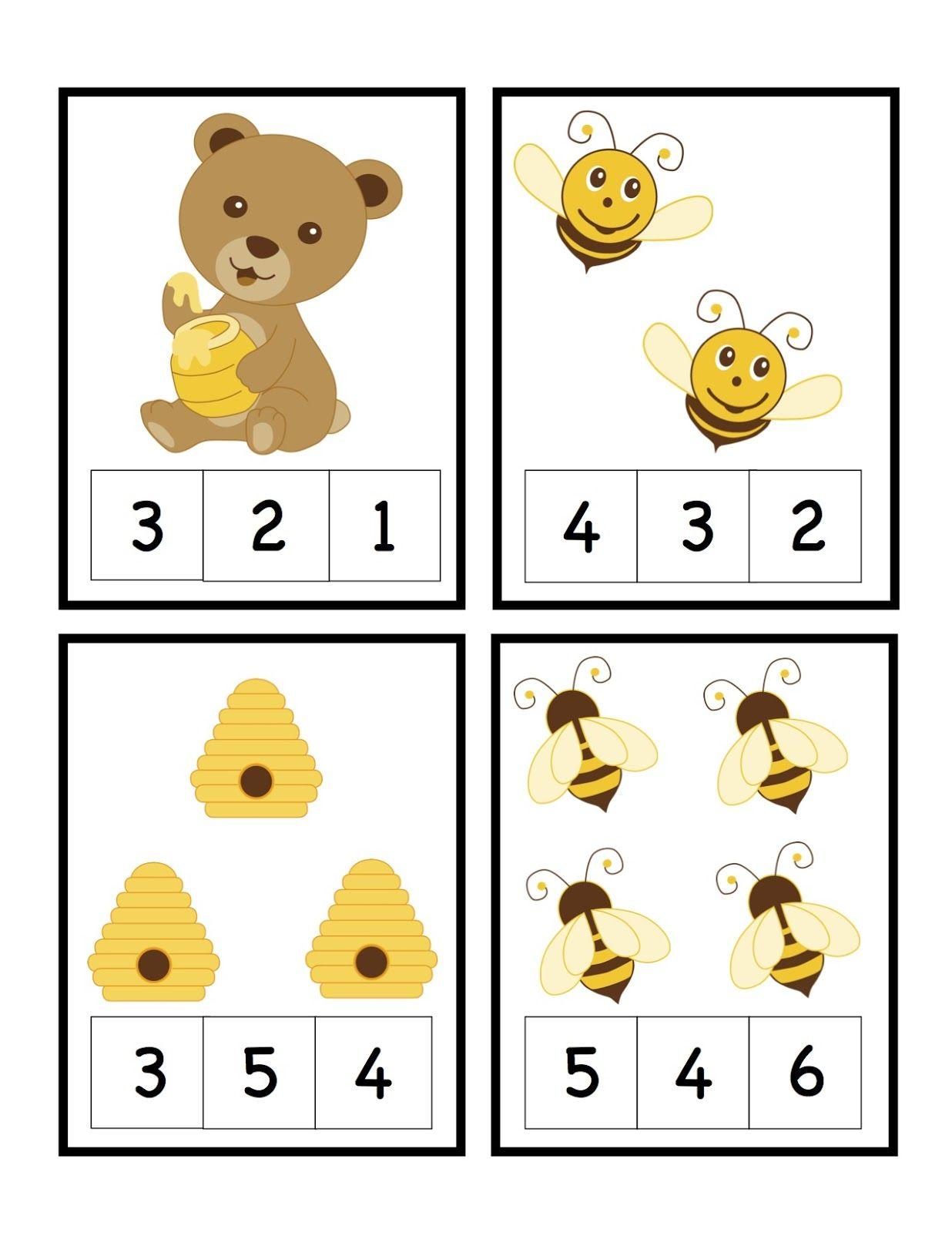 Bee Num Cards 1 4 1 236 1 600 Pixeles
