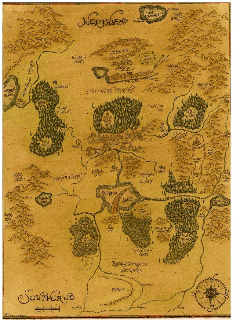 Map Of Shannara The Sword of Shannara | Shannara | Map Drawing by Adam Woods  Map Of Shannara