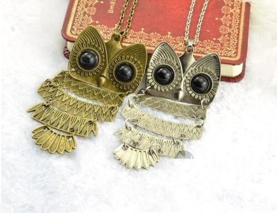 1pcs free shipping jewelry ancient bronze owl pendant necklace gem 1pcs free shipping jewelry ancient bronze owl pendant necklace gem ancient the owl sweater aloadofball Image collections