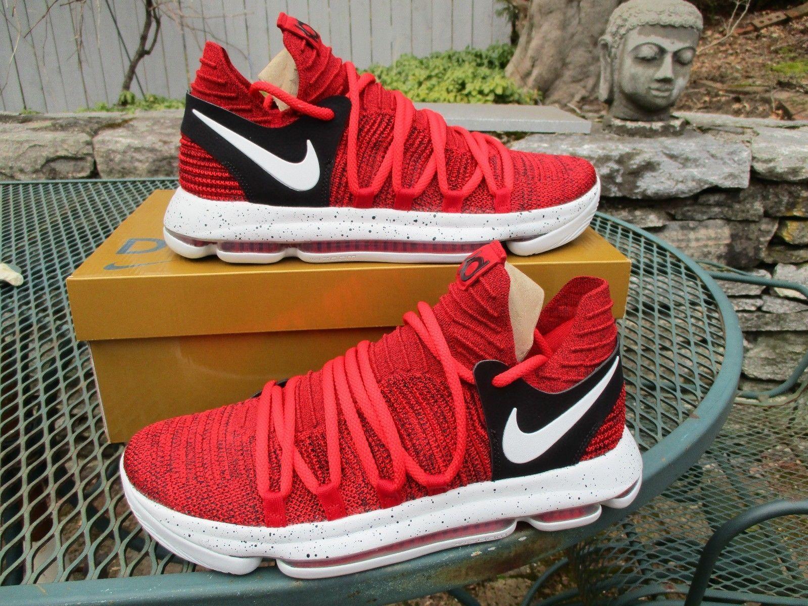 Nike Zoom KD 10 University Red White Black Red Velvet 897815-600 Men s Size  10.5  d8d457b5a3